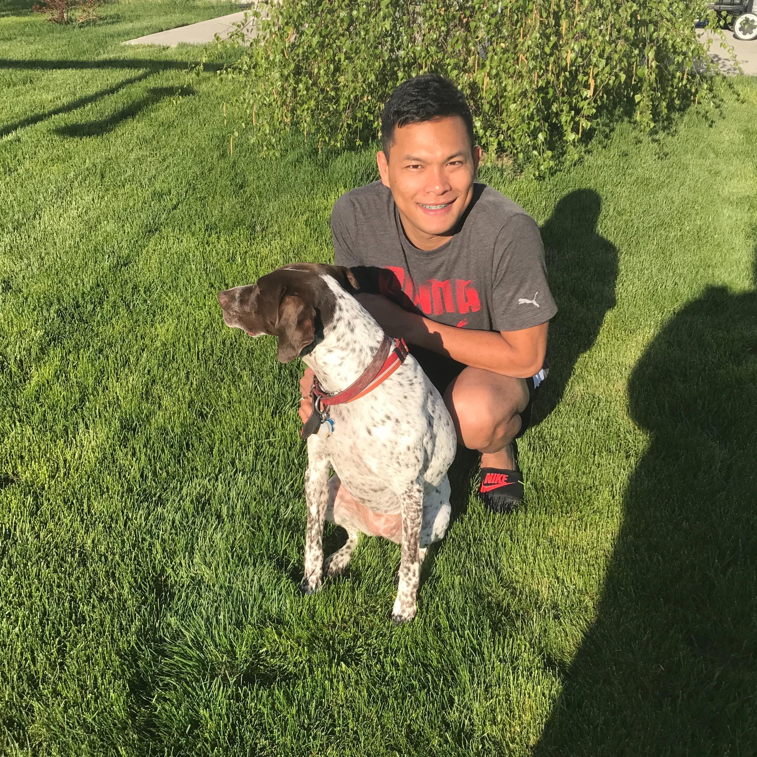 dog walker Henry