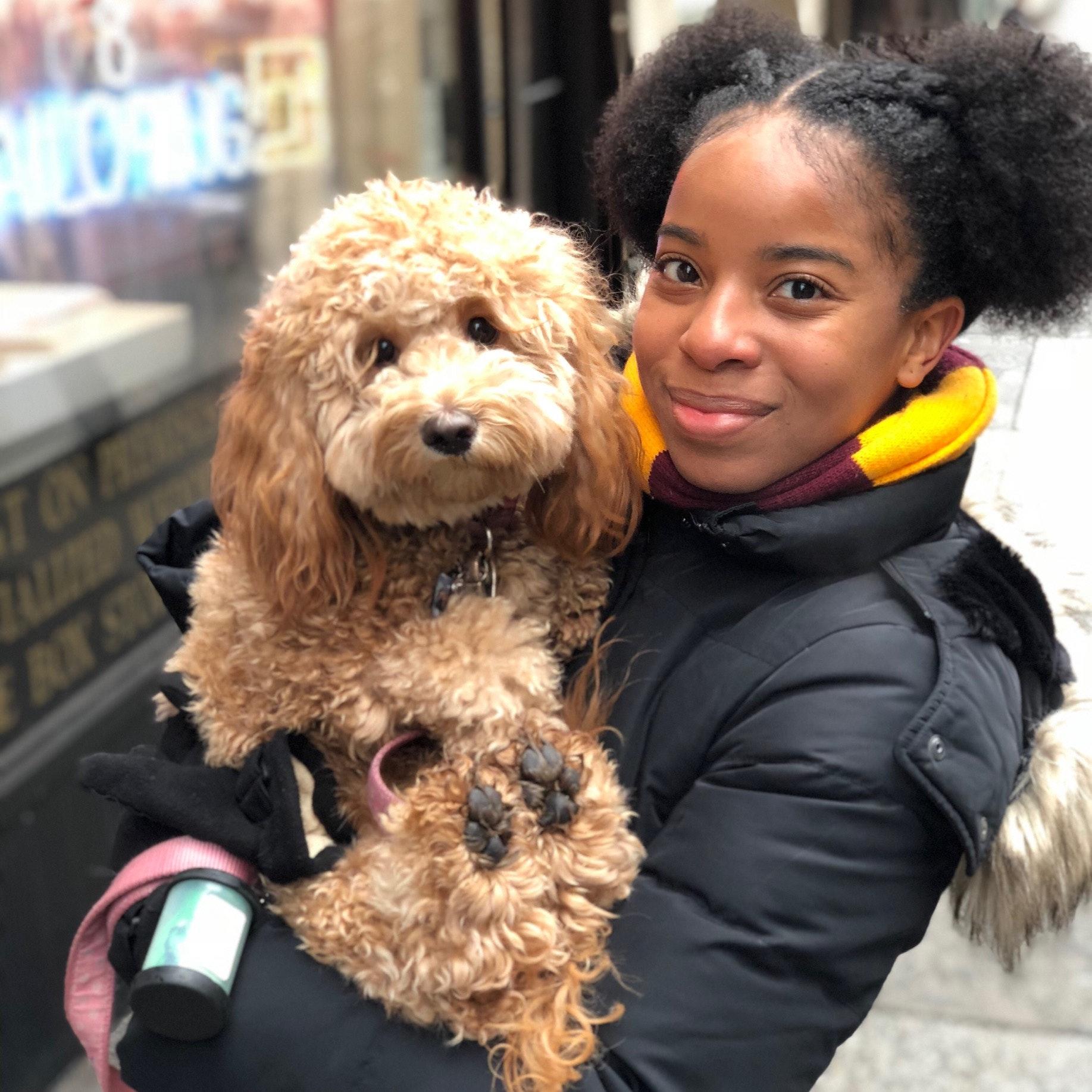 dog walker Raquel H. and Justin