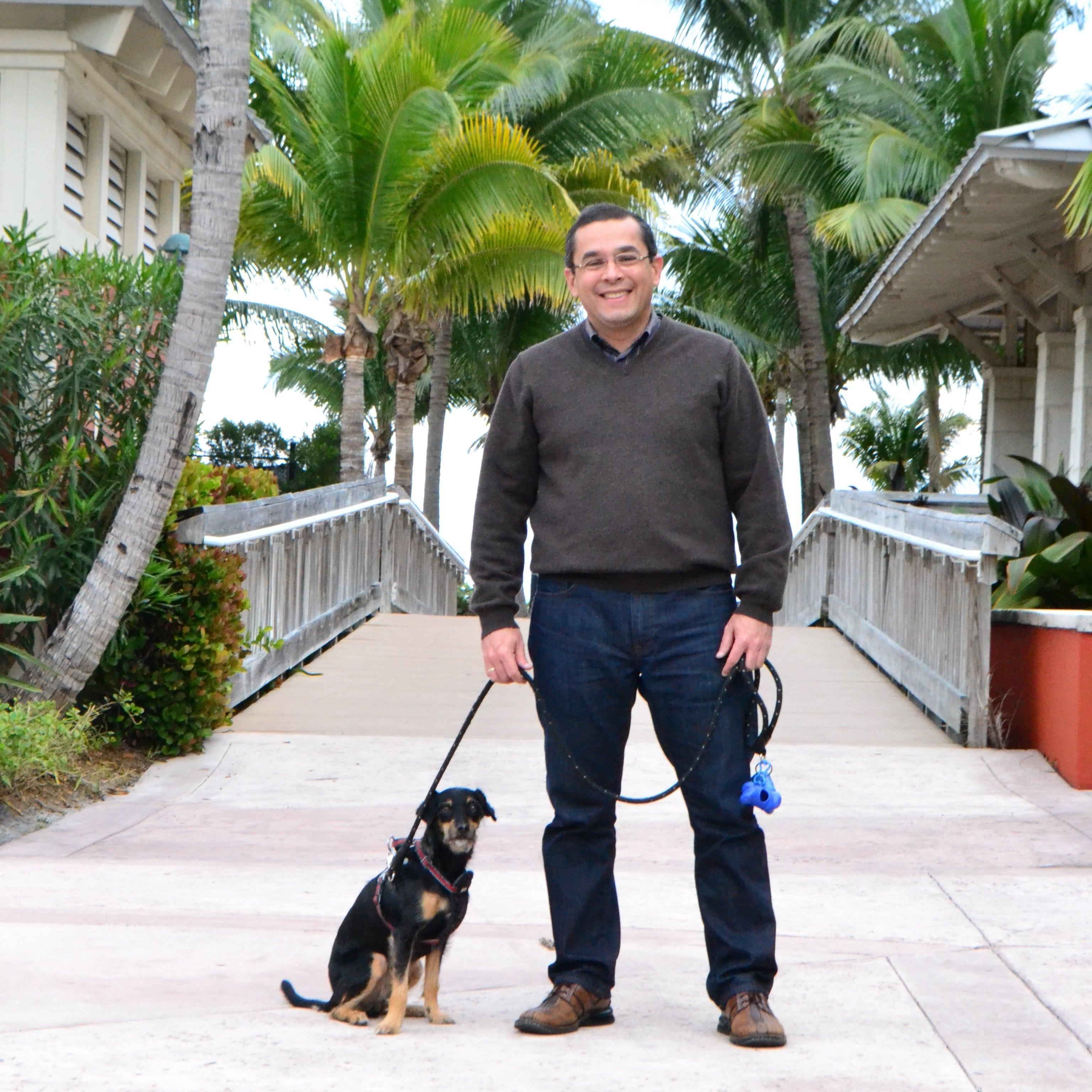 dog walker Juan