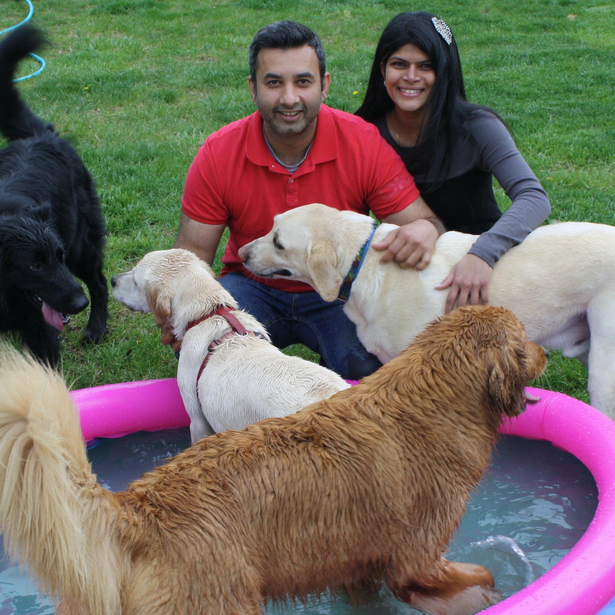 dog walker Harisha + Deepak