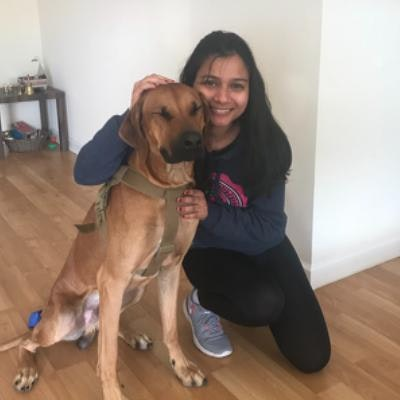 dog walker Shrishti