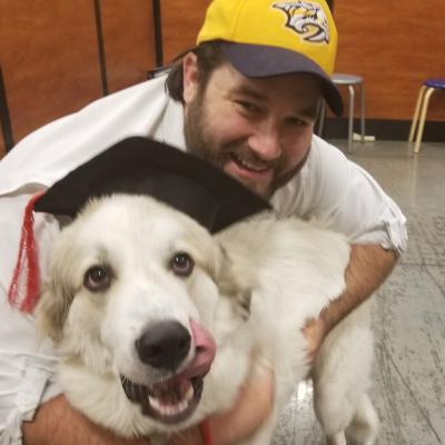 dog walker Bobby