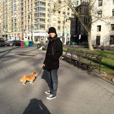 dog walker Levi