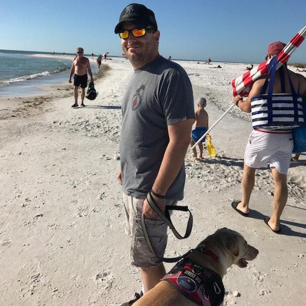 dog walker Tyson & Adrienne