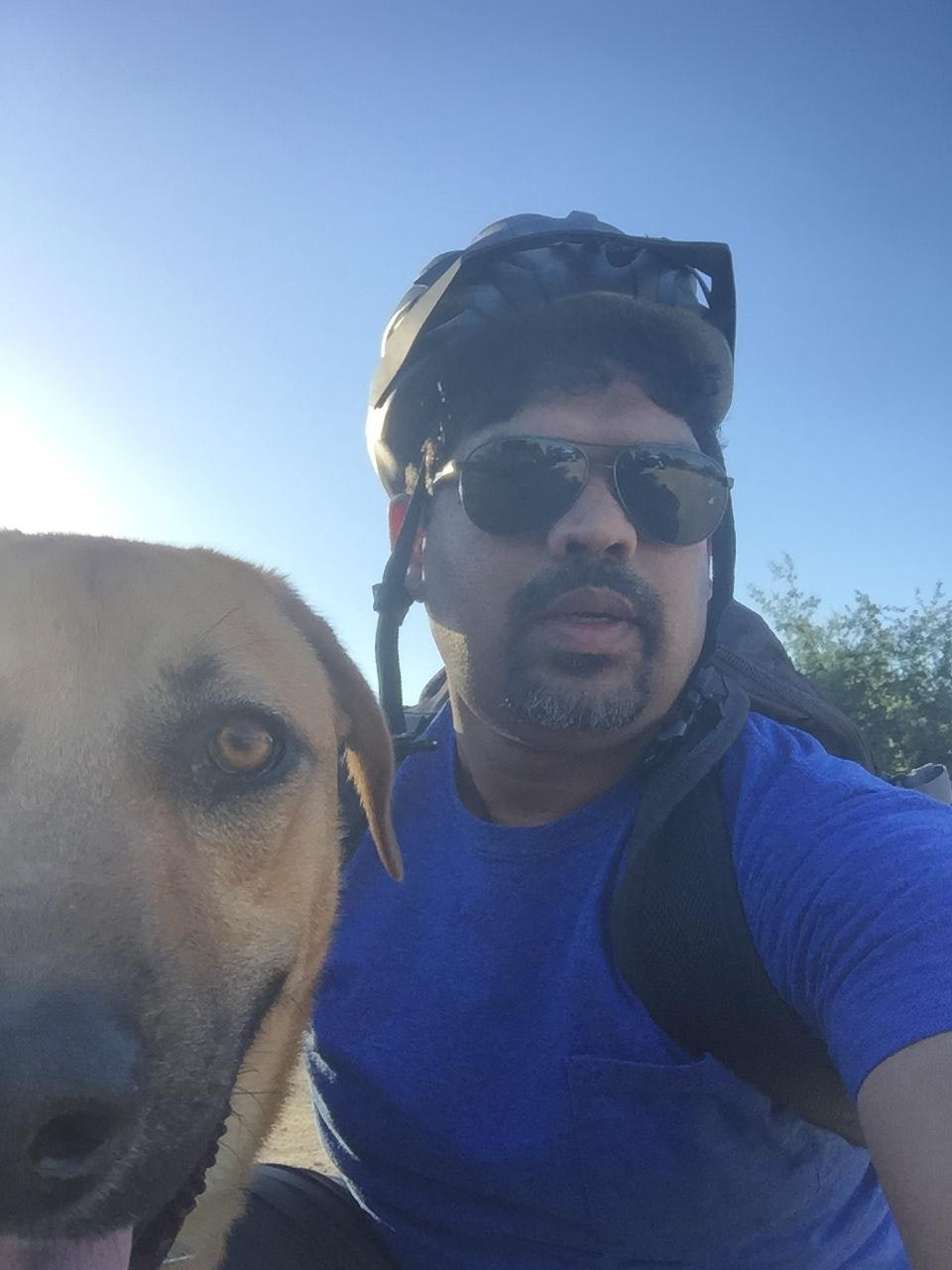 dog walker Sunil