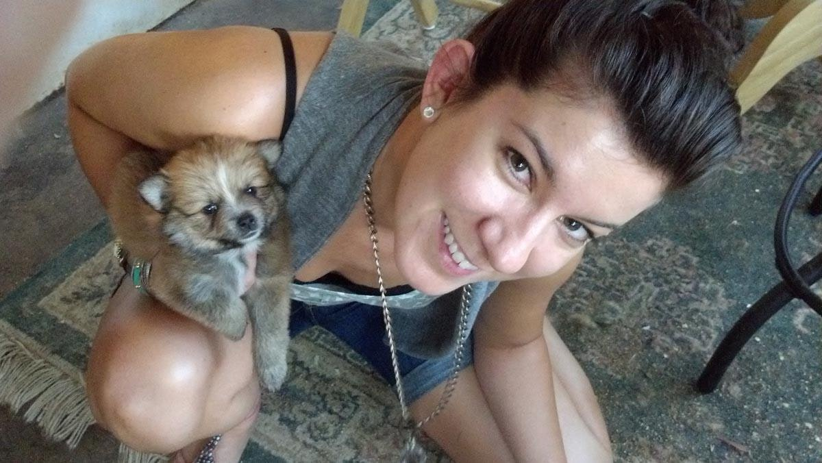 dog walker Cori