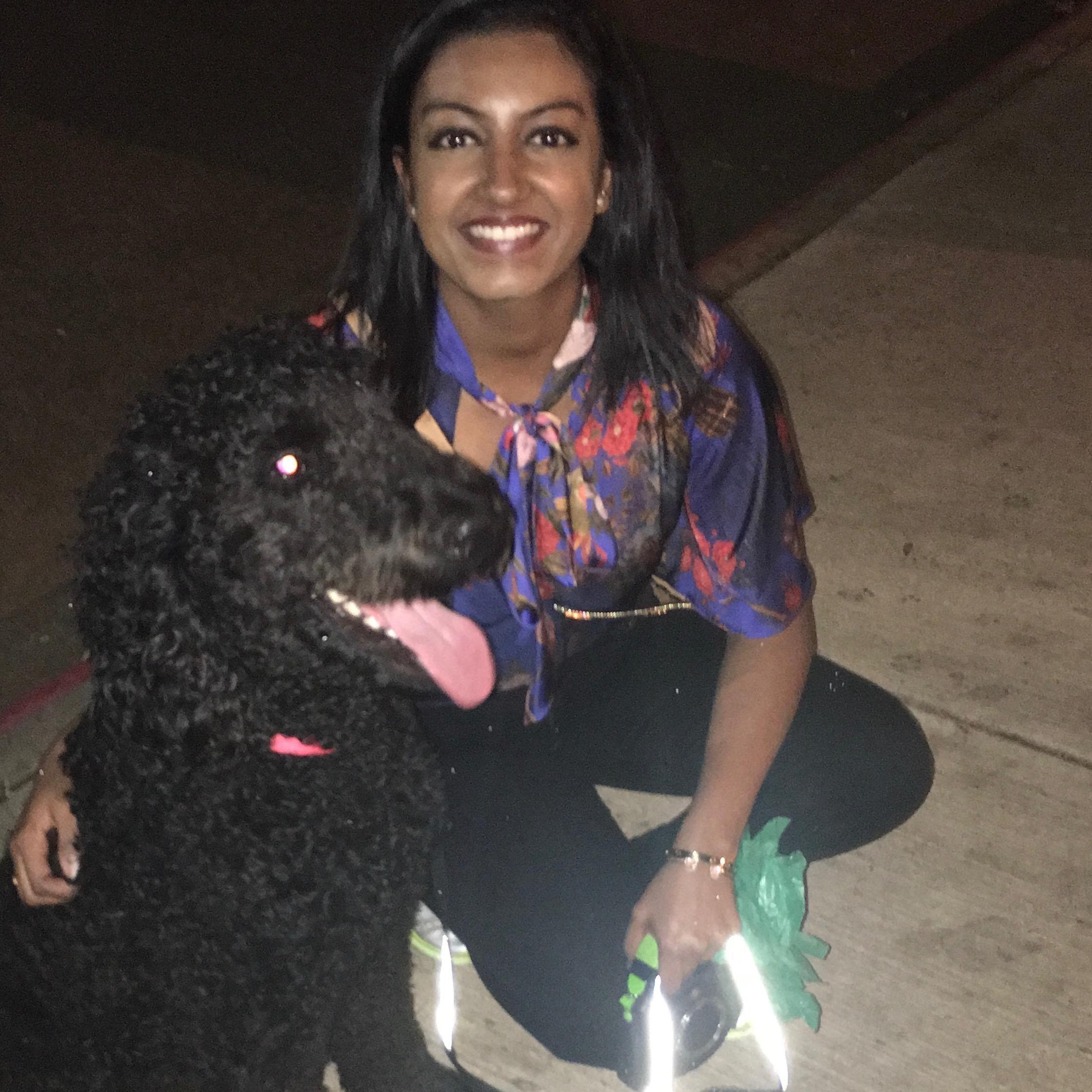 dog walker Brinda