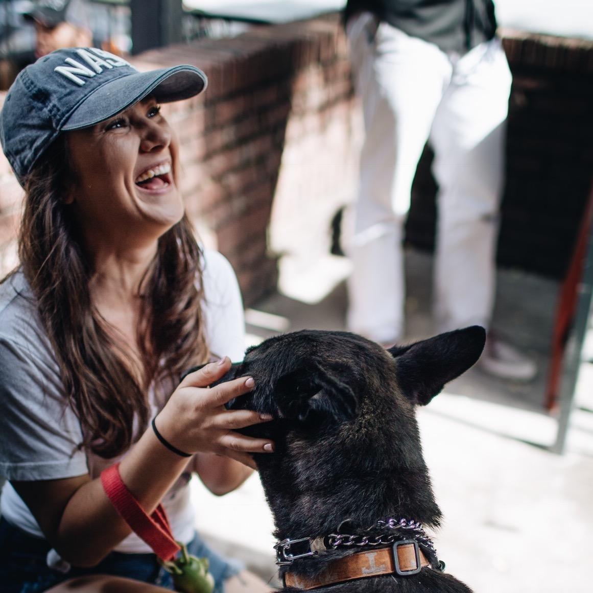 dog walker Genevieve