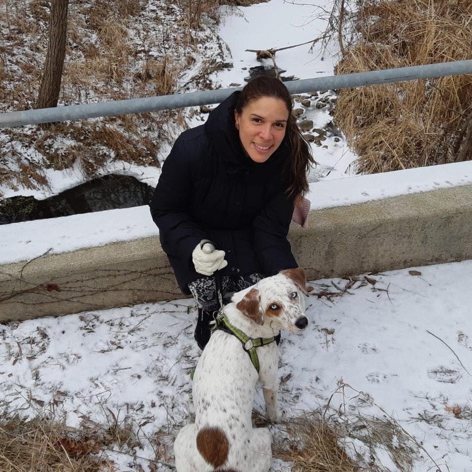 Maria Lourdes's dog boarding