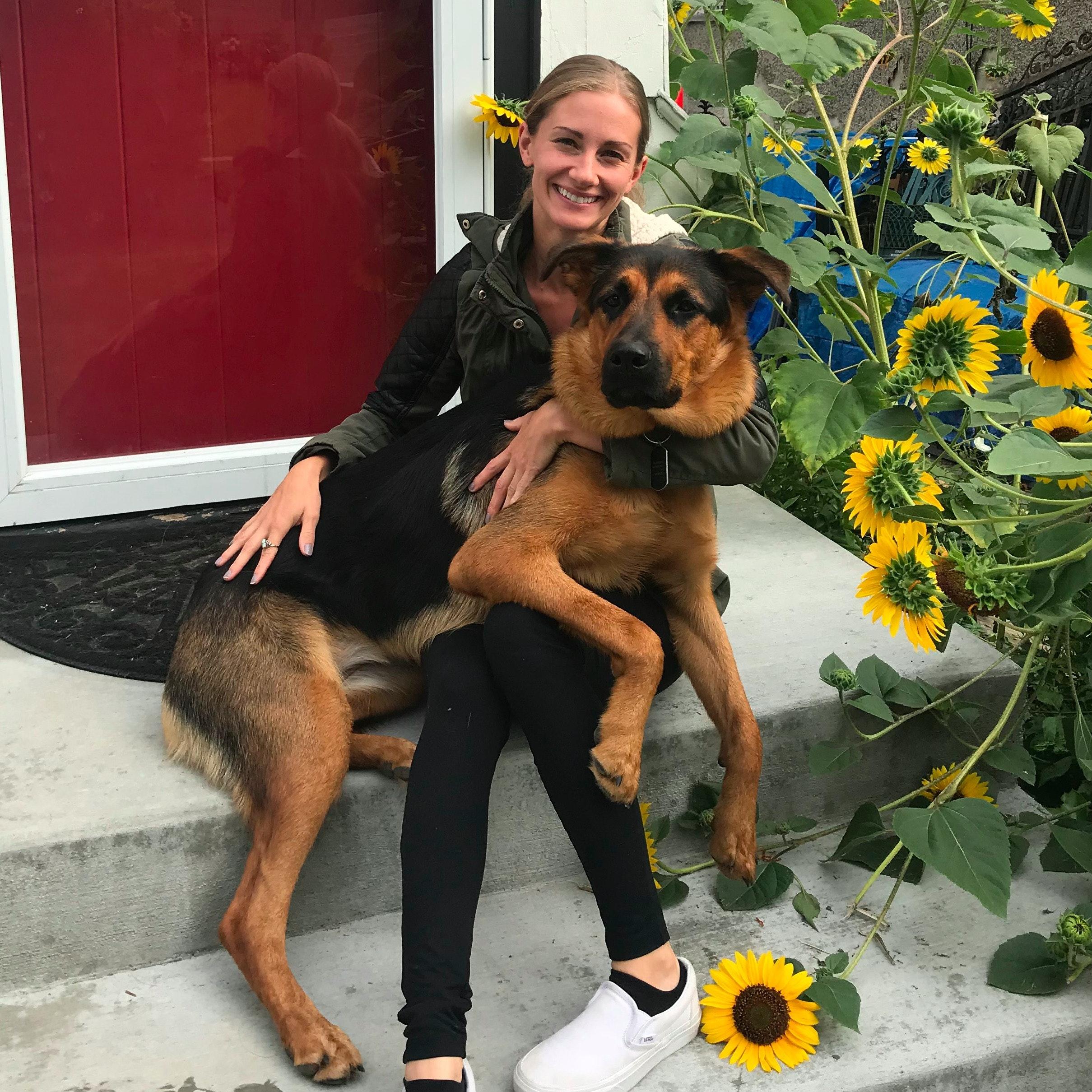 dog walker Sheila