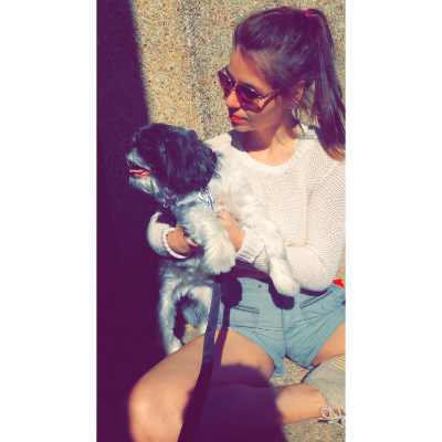 dog walker Hallie